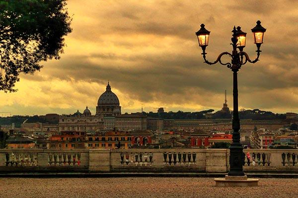 Roma Romantica Terrazza Del Pincio Villa Borghese Roma 01